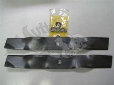"John Deere AM141040 OEM Lawn Mower Blades for 38"" Mower Decks w/ Mulch Kit  *Sold as a Set of 2 Blades*  Fits the following Equipment:  John Deere GT225 John Deere GT235 John Deere GT245 John Deere GX325 John Deere GX335 John Deere GX345 John Deere GX355 John Deere X300 John Deere X320 John Deere X340 John Deere X360 John Deere 325 John Deere 335 John Deere 345 John Deere 355D"