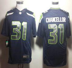 da075272b ... nfl cheap Nike Seattle Seahawks Jersey 31 Kam Chancellor Blue Limited  Jerseys ...