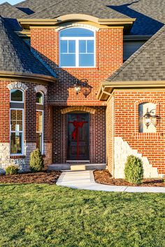 Beautiful professionally landscaped entry with a Therma Tru Rustic Series Entry Door. Old World Style, Entry Doors, Amelia, Cabin, Rustic, Mansions, House Styles, Beautiful, Home Decor