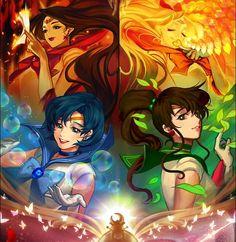 Beneath the Tangles Sailor Moon Makeup, Sailor Moon Art, Sailor Jupiter, Sailor Moon Crystal, Sailor Venus, Sailor Mars, Moon Pictures, Sailor Mercury, Moon Magic