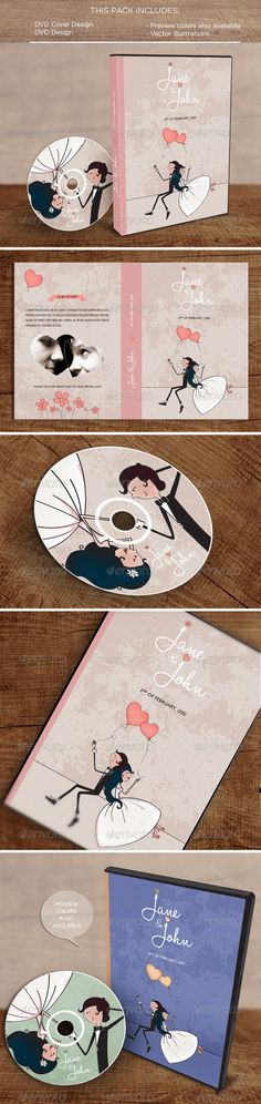 In the Air: DVD Pack #wedding #illustration • Click here to download ! http://graphicriver.net/item/in-the-air-dvd-pack/5044364?s_rank=102&ref=pxcr