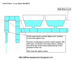 Aquaponic diagrams aquaponic system diagram garden pinterest loop siphon this siphon evolve from the classic loop over the barrel siphon its made up of a flexible tube with fittings to accomodate ccuart Images