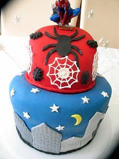 Spiderman birthday cake.