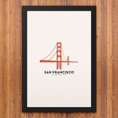 San Francisco Minimalist City Poster Plus