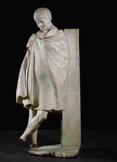 The chlamys, referred to also as the ephaptis, was a type of cloak worn by men in classical Greece. Essentially, it consists of a woolen rectangle the size of a blanket. It was originally put around the waist like a loin clothe but as time passed they started wearing it over the elbows. While it could be layered over clothing it was often the only piece of clothing worn by soldiers or messengers.