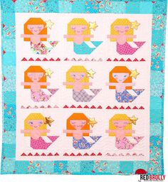 Aloha Mermaid quilt pattern by Red Brolly (Australia). October 2015.
