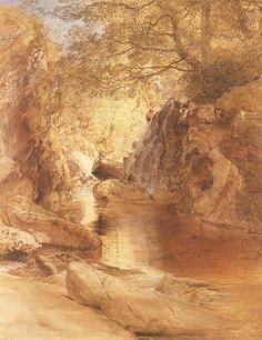 Samuel Palmer's A Cascade in Shadow (c. 1836)