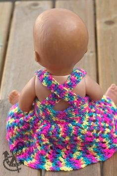 Doll's Dress Crochet Pattern For Baby Dolls & Teddy Bears