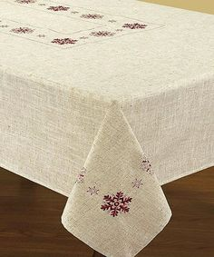 Take a look at this Snowflake Embroidered Tablecloth by Texstyles Deco on #zulily today!