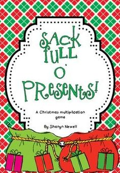 {FREE} Sack Full O Presents {A Multiplication Game}. By Coffee, Kids and Compulsive Lists. Third Grade Math Games, Fourth Grade Math, School Holidays, School Fun, Math School, Christmas Math, Christmas Activities, Link And Learn, Co Teaching