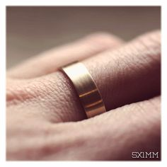 18k Mens Wedding Band 5mm X 1mm Handmade By Aidememoire On Etsy 575 00