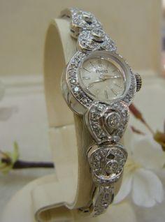 Damenuhr Piaget 585 Weißgold! 1,40 ct. Diamanten 0,20 ct. Briallanten W-SI