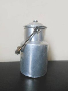 French interior/ french kitchen/ french village/Milk can aluminium vintage 1950's french country  country