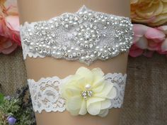 Check out this item in my Etsy shop https://www.etsy.com/listing/287659535/wedding-garter-wedding-garter-set-light
