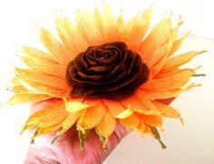 Wedding Sunflower Decor Nursery baby shower Sunflower Table Rustic Flowers Rustic Flower Favor Centerpiece Wedding paper Table Flower