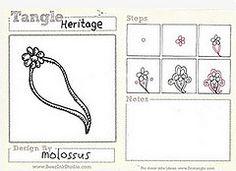 Heritage (molossus, who says Life Imitates Doodles) Tags: tangle zentangle zendoodle tanglepattern zentangleinspiredart