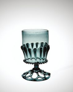 Medieval Glass: Forest Glass Goblet | Corning Museum of Glass  The color  style are both exquisite.