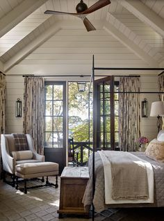 Beautiful bedrooms master - Whimsical lakeside cottage retreat with cozy interiors on Lake Keowee – Beautiful bedrooms master Indian Home Design, Lakeside Cottage, Lake Cottage, Rustic Cottage, Cottage Ideas, Cozy Cottage, Cottage Living, Cottage Homes, Country Living