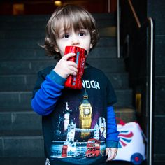toddler with a toy bus | Olympic essentials for the spirited toddler: The transport