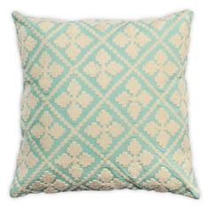 Check out this item at One Kings Lane! Quatre 20x20 Cotton-Blended Pillow, Teal