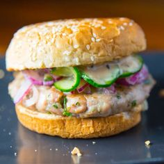This tuna burger infused with Thai Chili's and Ginger is packed with ...