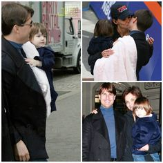 Actress - atriz - actriz - actor - ator - hair - cabelo - pelo - dark - escuro - oscuro - black - preto - negro - eye - olho - ojo - blue - azul - beautiful - bonita - hermoso - moda - look - style - estilo - inspiration - inspiração - inspiración - fashion - coat - casaco - baby - bebê - daughter - filha - hija - father - pai - padre - dad - papai - papá - mother - mãe - madre - mom - mamãe - mamá - happy family - família feliz - november - 2007 - Katie Holmes - Suri Cruise - Tom Cruise