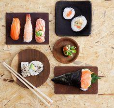 Älä turhaan arastele sushin tekemistä kotona! Näiden ohjeiden ja kuvien avulla opit, miten tehdään nigiri, maki, gunkan, california ja temaki.