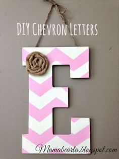 DIY Wall Letters and Initals Wall Art - DIY Chevron Letters - Cool Architectural Letter Projects for Living Room Decor, Bedroom Ideas. Girl or Boy Nursery. Paint, Glitter, String Art, Easy Cardboard and Rustic Wooden Ideas http://diyprojectsforteens.com/diy-projects-with-letters-wall