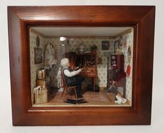 Scale Handcrafted Miniature Doctor's Office Scene by Ann Maselli OOAK Military Modelling, Doctor Office, Miniature Rooms, House Doctor, Medical Advice, Doll Furniture, House Rooms, Doll Houses, Office Ideas