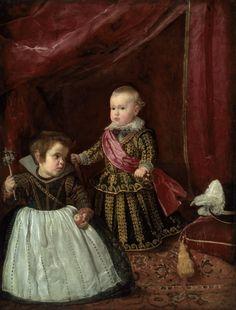 Diego Velázquez. El príncipe Baltasar Carlos con un enano. 1631, Museo de Bellas Artes. Boston. Estados Unidos.