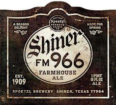 Is Spoetzel Brewery (Shiner, TX) adding a farmhouse ale to the Shiner lineup?  Looks that way this spring. Shiner FM 966 Farmhouse Ale echoes a style brewed for centuries. Quite interesting from a brewery that has been Continue Reading →