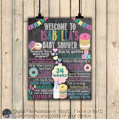 Donut Baby Shower Poster, Donut Baby Shower Decor, Brunch Baby Shower, Dounuts…