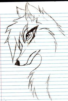 Anime Wolf Drawing Step By Step - Anime Amazing Drawings, Love Drawings, Animal Drawings, Amazing Art, Art Drawings, Pencil Drawings, Anime Wolf Drawing, Furry Drawing, Manga Drawing