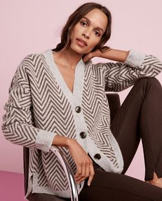 Shop Ann Taylor for effortless style and everyday elegance. Our Herringbone Boyfriend Cardigan is the perfect piece to add to your closet.
