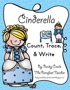 FREEBIE! Please rate after download-Thanks in advance! Cinderella Number Count, Trace, & Write (2 Sheets)