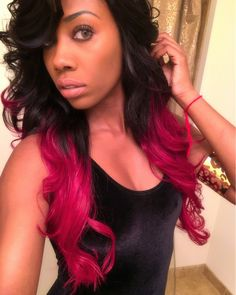 Red ombre hair | Body wave