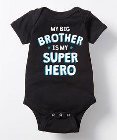 Black 'My Brother Is My Super Hero' Bodysuit - Infant