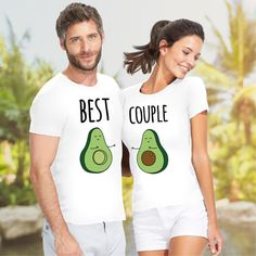 Matching set t-shirt Best Avocado Couple present for by VivaMake