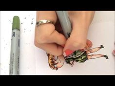Copic Colouring Tutorial - Transparent Objects - YouTube
