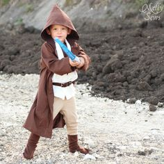 DIY Kids Obi Wan Kenobi Costume - Melly Sews