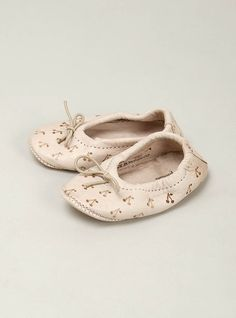Leather Cherry Ballet Slippers