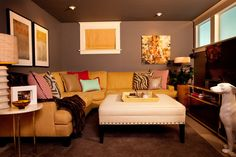 "Using the room itself, as a monochromatic backdrop for decor allows you to paint darker. ""It envelops you in color,"" says interior designer Garrison Hullinger. ""With no separation between wall and ceiling, it is easier on the eye."" Treff LaFleche also advocates using deep colors. ""In the absence of contrast between trim and wall, the stronger colors appear lighter and softer."""