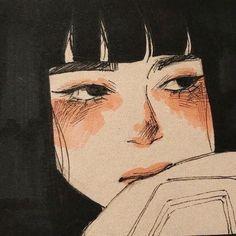 Pretty Art, Cute Art, Aesthetic Art, Aesthetic Anime, Aesthetic Black, Fuchs Illustration, Arte Lowbrow, Arte Indie, Arte Sketchbook