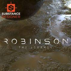 mud and mud-puddle substance, Alexander Asmus on ArtStation at https://www.artstation.com/artwork/qPdP2
