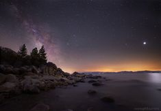"""""""Blood Moon"""" lunar eclipse on the east shore of Lake Tahoe"""