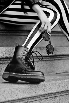 Girl with Doc Martin Boots