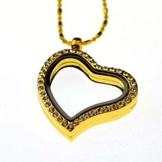 gold memory locket necklace for floating charms  http://ok-charm-shop.com/floating-locket-necklace-c-387_388.html