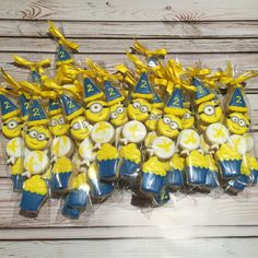 """510 Likes, 23 Comments - Andrea's Oven (@andreasoven) on Instagram: """"Ain't no party like a Minion party!  #andreasoven #decoratedcookies #vancouver #vancity #yvr…"""""""