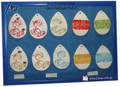 Πασχαλινά κεραμικά αυγά χειροποίητα σε διάφορα χρώματα. Greek handmade ceramic easter eggs. Enamel, Ceramics, Accessories, Souvenir, Ceramica, Vitreous Enamel, Pottery, Enamels, Ceramic Art
