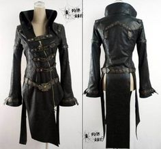 Punk Rave Black Gothic Coat [Y-261-Black] - $203.63 : Gothic Clothing, Gothic Boots & Gothic Jewellery. New Rock Boots, goth clothing & goth...